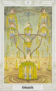 Thoth Tarot, Seven of Cups, Debauch